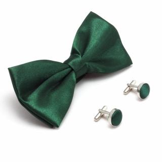 Набор из зеленой бабочки и запонок