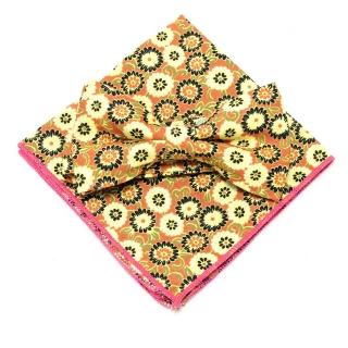Купить набор из бабочки и платка с цветами