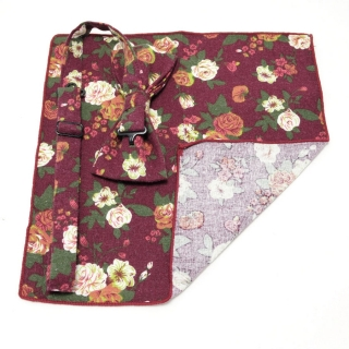 Комплект бабочки и платка с цветочным принтом