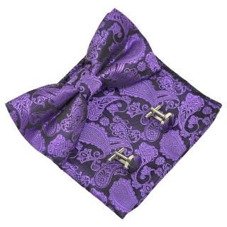 Набор аксессуаров #033 (фиолетовый пейсли)