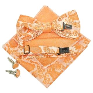Купить набор аксессуаров оранжевого цвета с узором