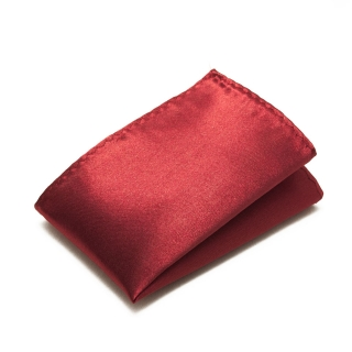 Бордовый платок в карман пиджака