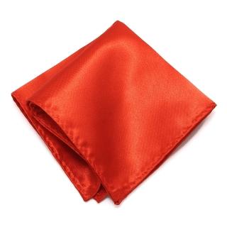 Красный атласный платок в карман пиджака