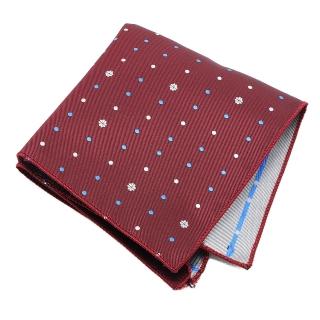 Бордовый нагрудный платок в горошек