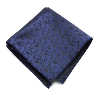 Нагрудный платок #020 (синий узор)