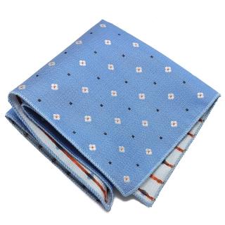 Голубой платок в карман пиджака