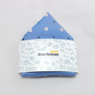 Купить карманный платок голубого цвета