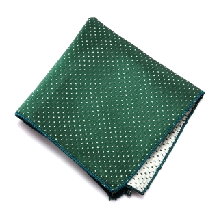 Зеленый платок в горошек