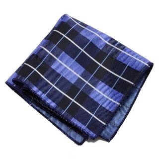 Синий клетчатый платок