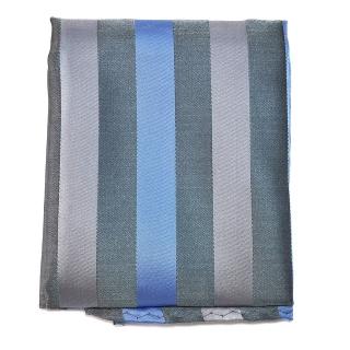 Серый полосатый карманный платок