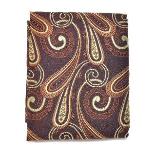 Купить узорчатый коричневый платок