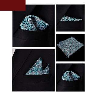 Бирюзовый узорчатый платок-паше
