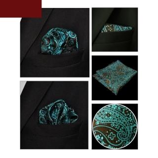 Узорчатый платок в карман пиджака