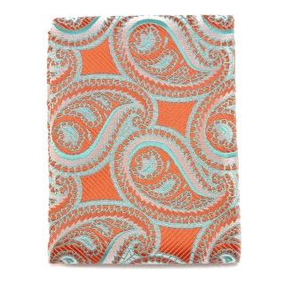 Оранжевый узорчатый платок для пиджака