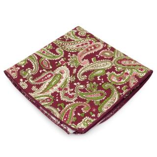 Нагрудный платок #064 (бордовый пейсли)
