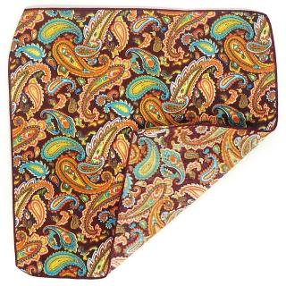 Нагрудный платок оранжевый огуречный