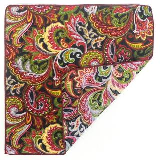 Платок для пиджака с росписью