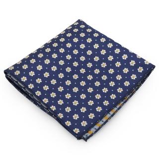 Синий цветочный нагрудный платок