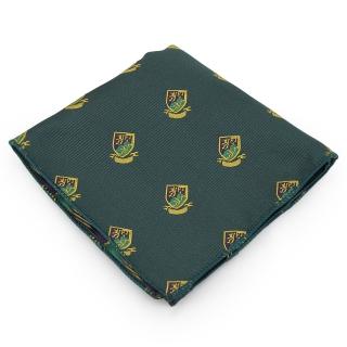 Нагрудный платок #076 (зеленый герб)