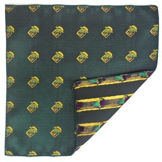 Нагрудный платок зеленые гербы