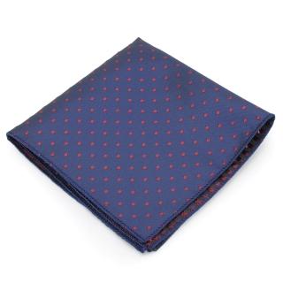 Нагрудный платок #077 (синий в горошек)