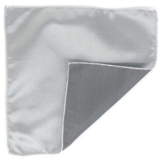 Серебряный платок в карман пиджака