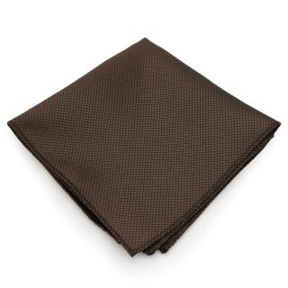 Однотонный коричневый платок