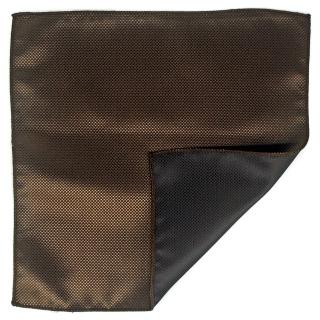 Купить однотонный коричневый платок для пиджака