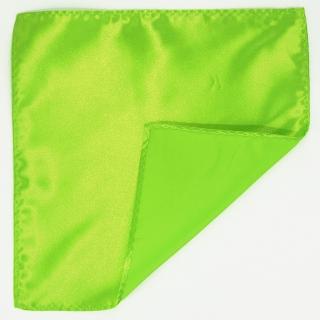 Зеленый однотонный платок в карман