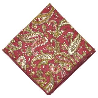 Нагрудный платок #118 (бордовый пейсли)