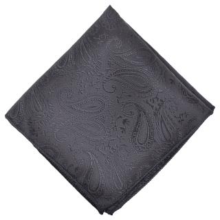 Нагрудный платок #121(черный пейсли)