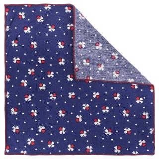 Купить нагрудный платок с рисунком клевер
