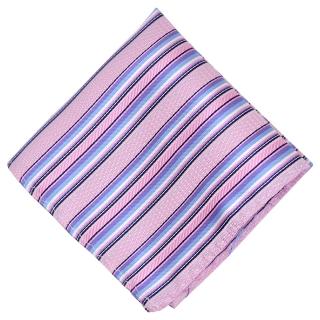 Нагрудный платок розового цвета с яркими полосками