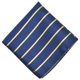 Нагрудный платочек синего цвета в полоску