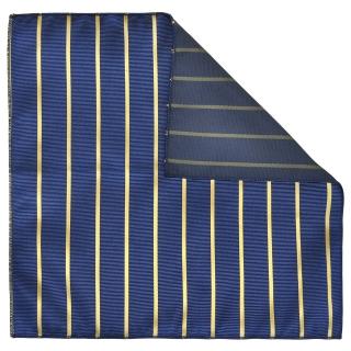 Купить синий нагрудный платок в полоску