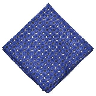 Нагрудный платок синего цвета с узором