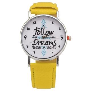 Наручные часы #043 (желтые)