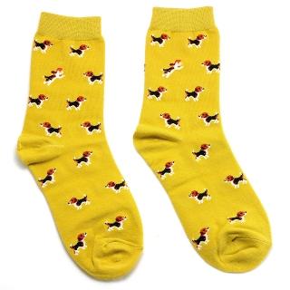 Желтые носки с собачками