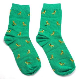 Носки зеленые жираф