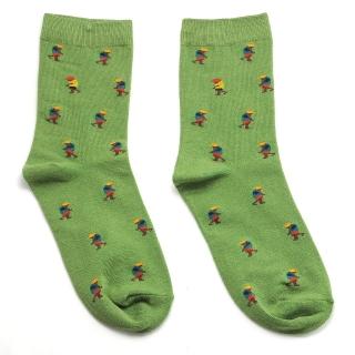 Зеленые носки с человечками