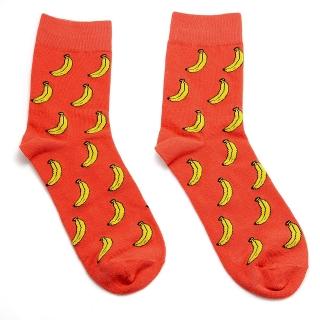 Носки оранжевые с бананами