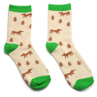 Бежевые носки лесные