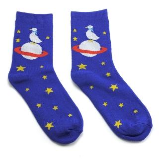 Темно-синие носки с космосом