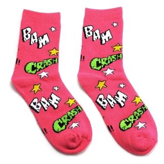 Взрывные розовые махровые носки