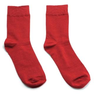Однотонные бордовые носки