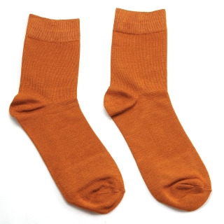 Рыжие носки однотонные