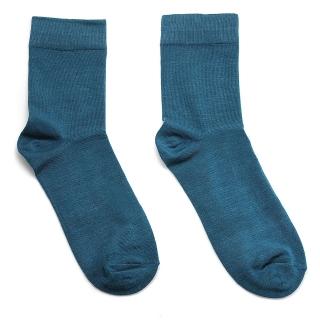 Синие носки однотонные