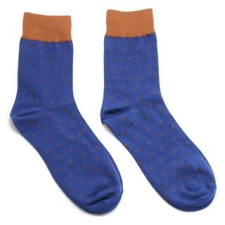 Синие носки в крапинку