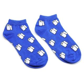 Синие носки с туалетной бумагой