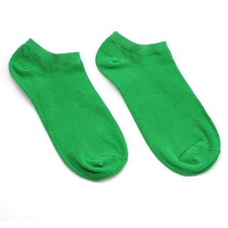 Зеленые однотонные летние носки